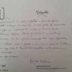 LETTERA DA COMISO DI GESUALDO BUFALINO 1 settembre 1995